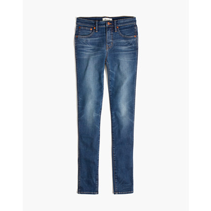 "Taller 9"" High-Rise Skinny Jeans in Patty Wash"