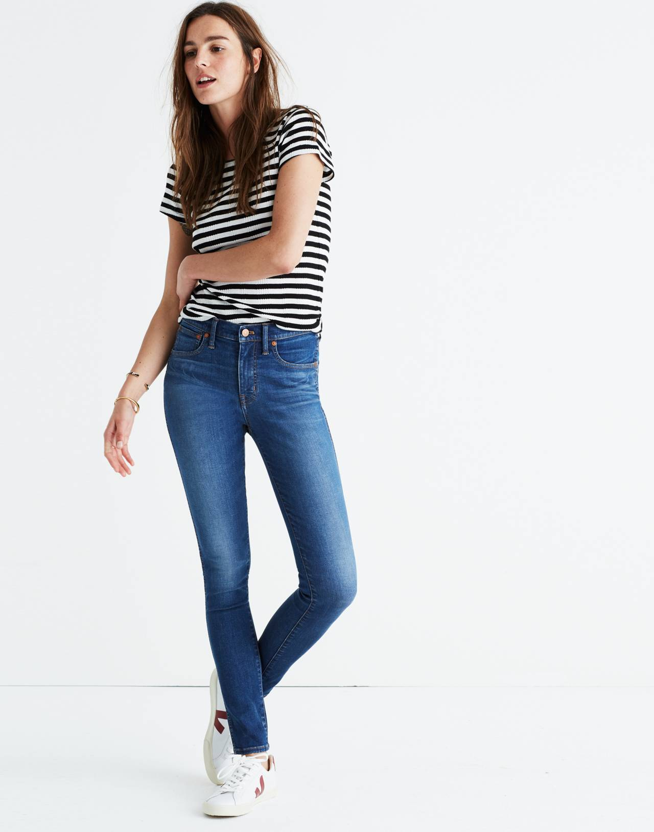 """Petite 9"""" High-Rise Skinny Jeans in Patty Wash in patty wash image 2"""
