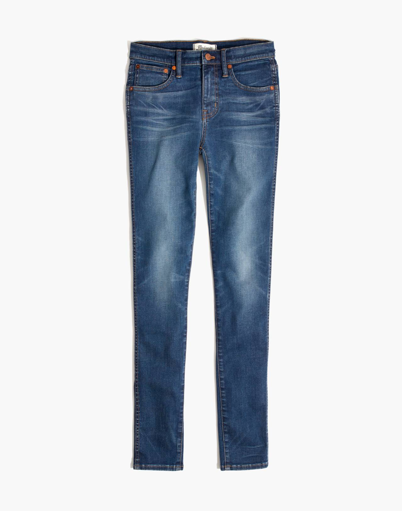 """Petite 9"""" High-Rise Skinny Jeans in Patty Wash in patty wash image 4"""