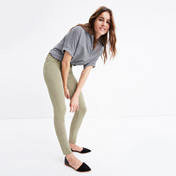 "Tall 9"" High-Rise Skinny Jeans: Raw-Hem Garment-Dyed Edition"