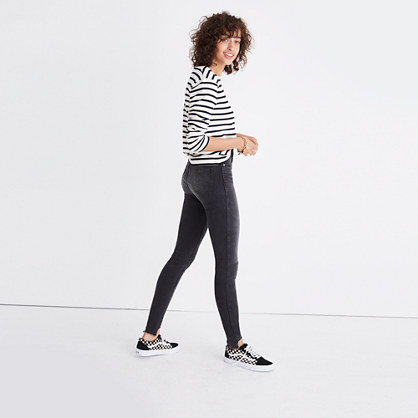 "10"" High-Rise Skinny Jeans: Step-Hem Edition"
