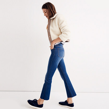 Cali Demi-Boot Jeans: Raw-Hem Edition