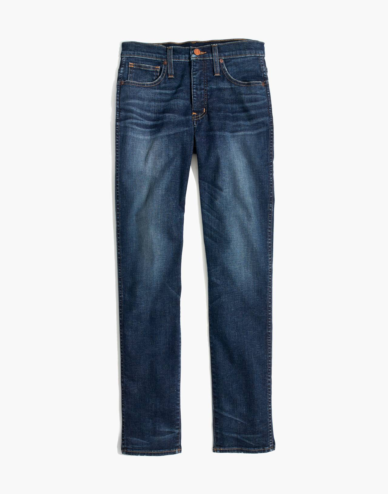 Slim Straight Jeans in William Wash in william wash image 4