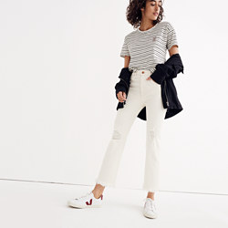 Tall Retro Crop Bootcut Jeans: Distressed Edition