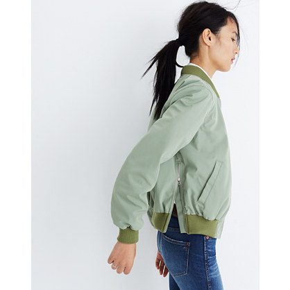Side-Zip Bomber Jacket