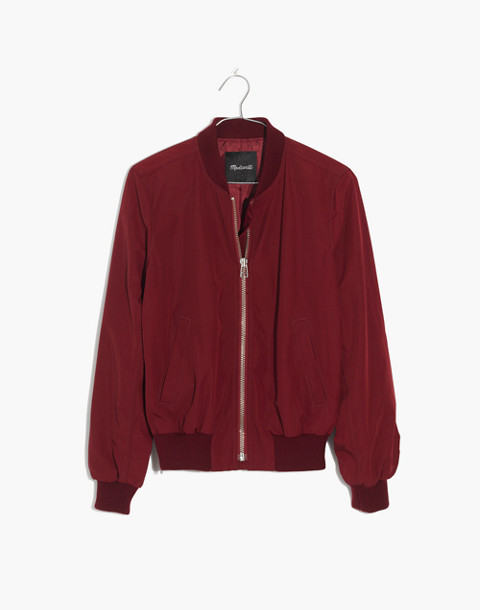 Side-Zip Bomber Jacket in dusty burgundy image 4