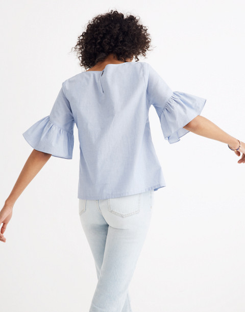 Ruffle-Sleeve Top in soft twilight image 3
