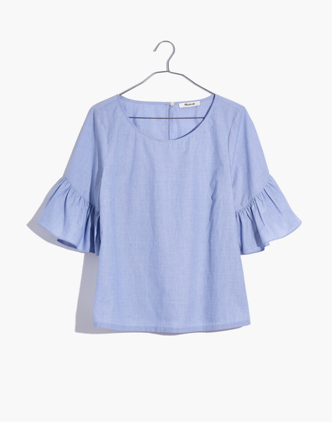 Ruffle-Sleeve Top in soft twilight image 4