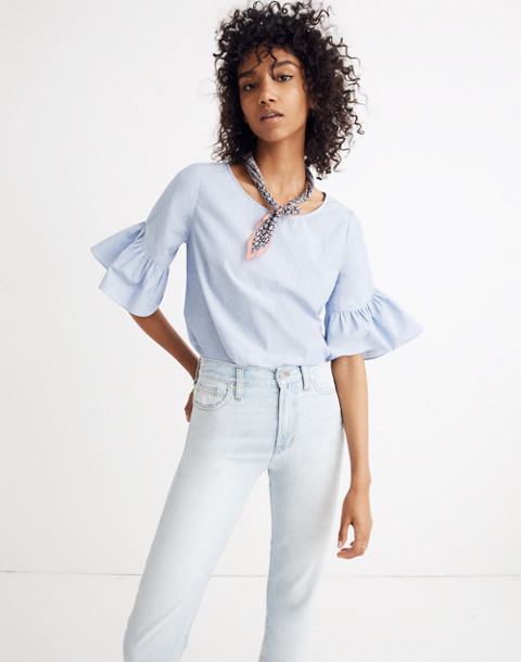 Ruffle-Sleeve Top in soft twilight image 1