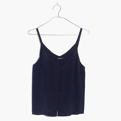 Silk Button-Down Cami