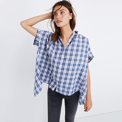 Central Open-Back Shirt in Linus Plaid