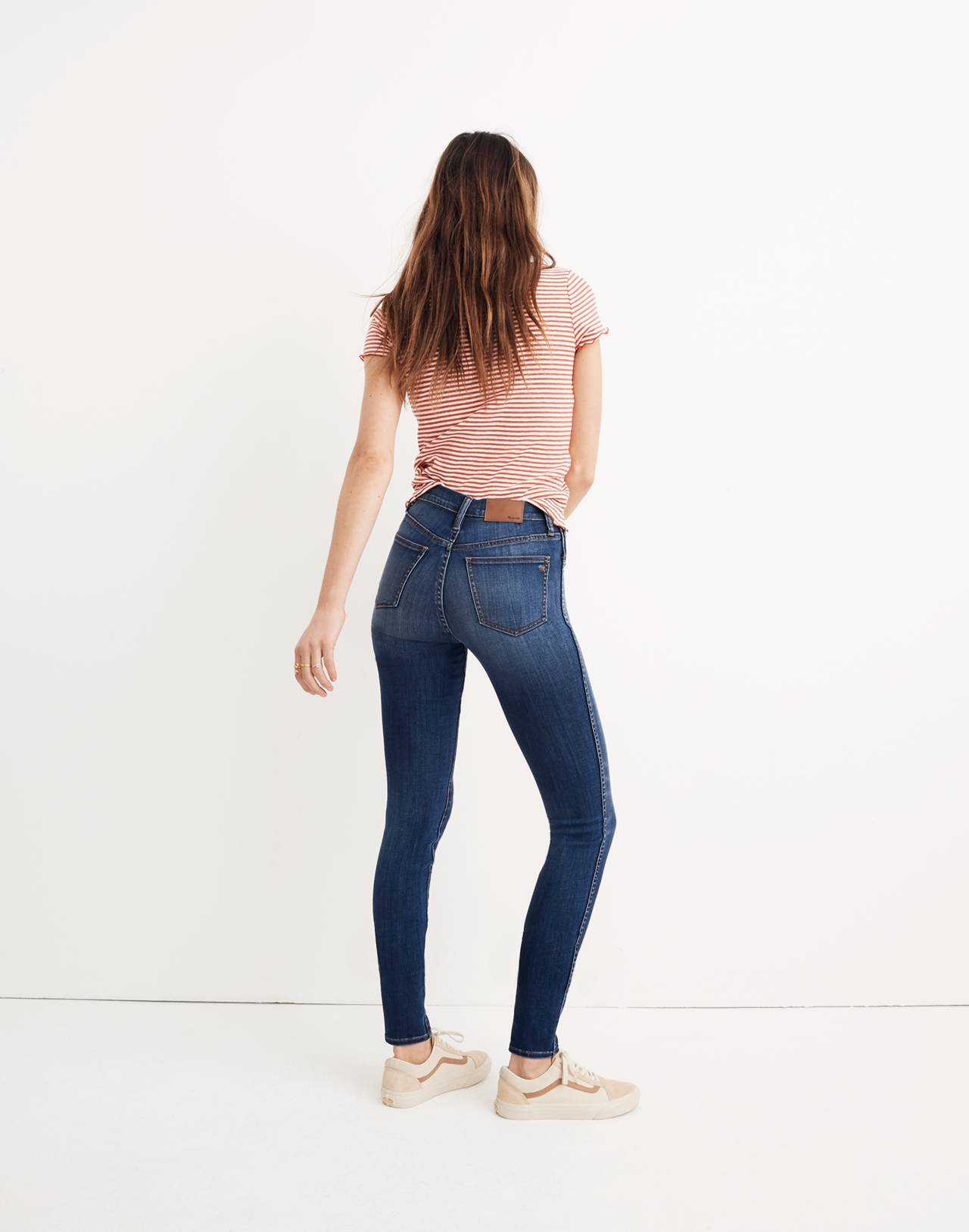 "10"" High-Rise Skinny Jeans in Danny Wash: Tencel™ Edition in danny image 3"