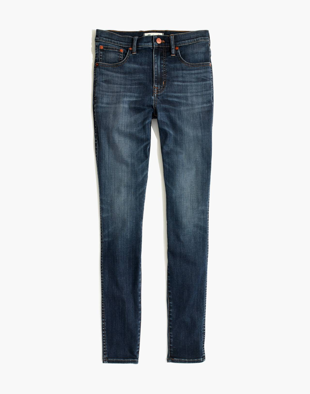 "10"" High-Rise Skinny Jeans in Danny Wash: Tencel™ Edition in danny image 4"