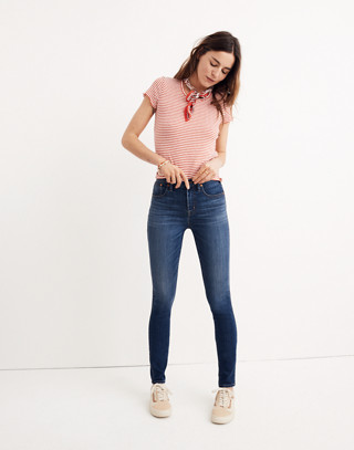 "Taller 10"" High-Rise Skinny Jeans in Danny Wash: Tencel® Edition in danny image 1"