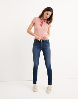 "Tall 10"" High-Rise Skinny Jeans in Danny Wash"