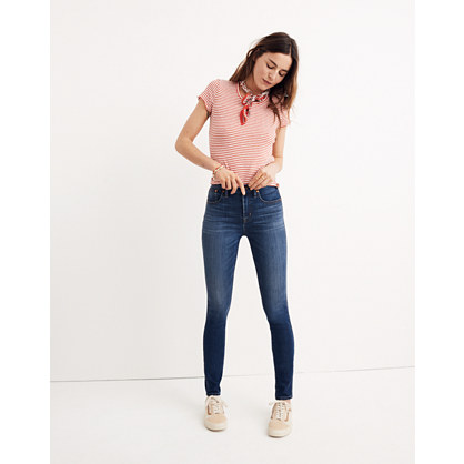 "Short 10"" High-Rise Skinny Jeans in Danny Wash"