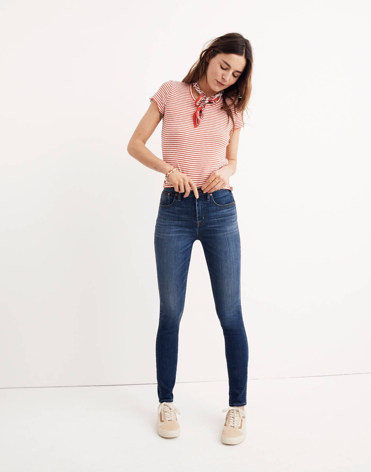 "10"" High-Rise Skinny Jeans in Danny Wash: Tencel™ Edition in danny image 1"