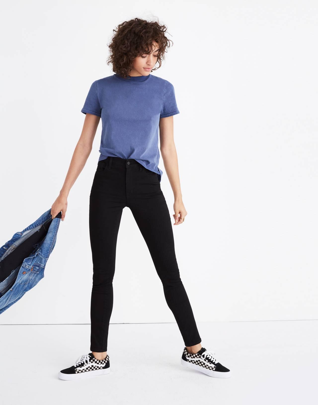 Petite Roadtripper Jeans in Bennett Black in bennett wash image 2