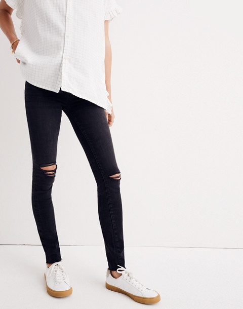 Maternity Over-the-Belly Skinny Jeans in Black Sea