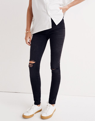 Maternity Over-the-Belly Skinny Jeans in Black Sea in black sea image 3