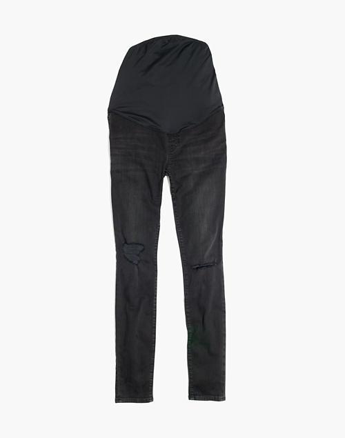 63ce106f99705 Maternity Over-the-Belly Skinny Jeans in Black Sea in black sea image 4