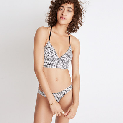 Cotton-Modal® Kealy Longline Bralette in Gingham
