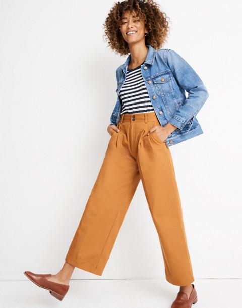 Pleated Wide-Leg Pants in golden pecan image 2