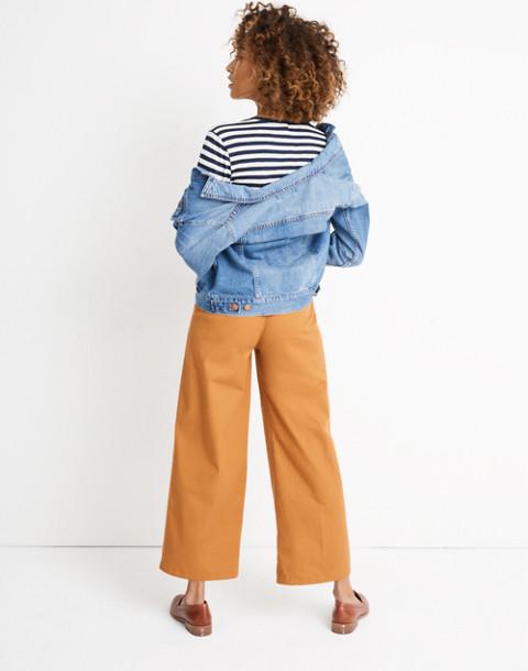 Pleated Wide-Leg Pants in golden pecan image 3