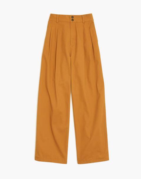 Pleated Wide-Leg Pants in golden pecan image 4