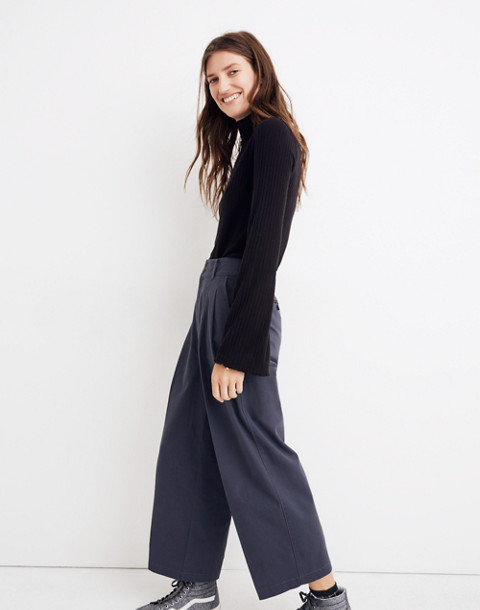 Pleated Wide-Leg Pants in thunder image 2