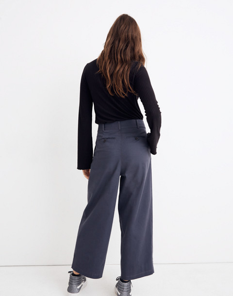 Pleated Wide-Leg Pants in thunder image 3
