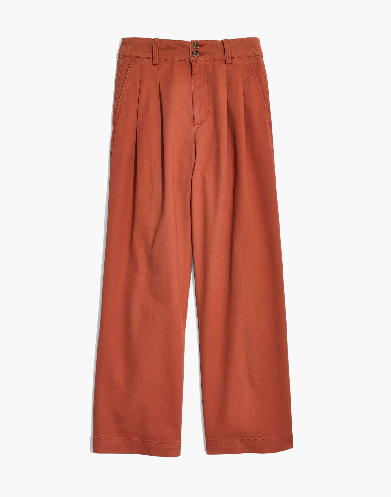 Pleated Wide-Leg Pants in afterglow red image 4