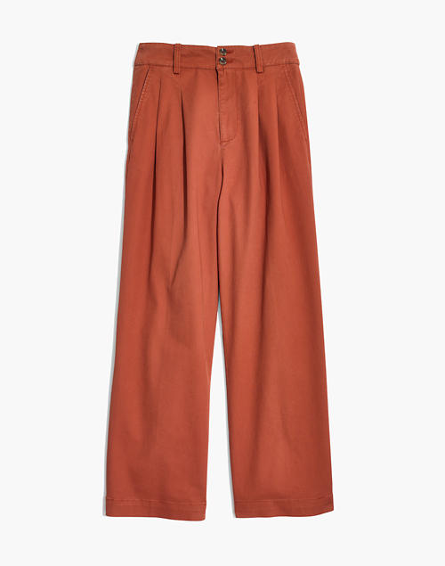 dad7ab7e72 Pleated Wide-Leg Pants in afterglow red image 4