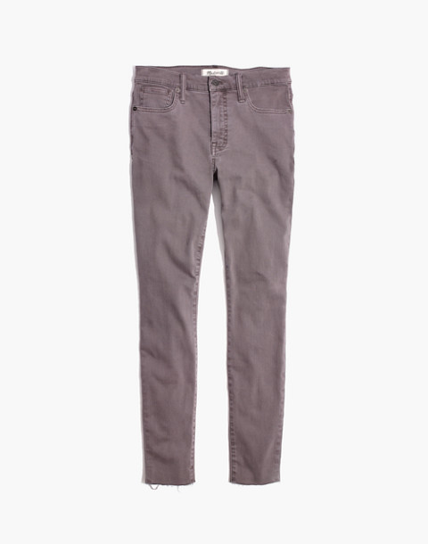 "Taller 9"" High-Rise Skinny Jeans: Raw-Hem Garment-Dyed Edition"
