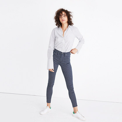 "Taller 9"" High-Rise Skinny Jeans: Windowpane Edition"