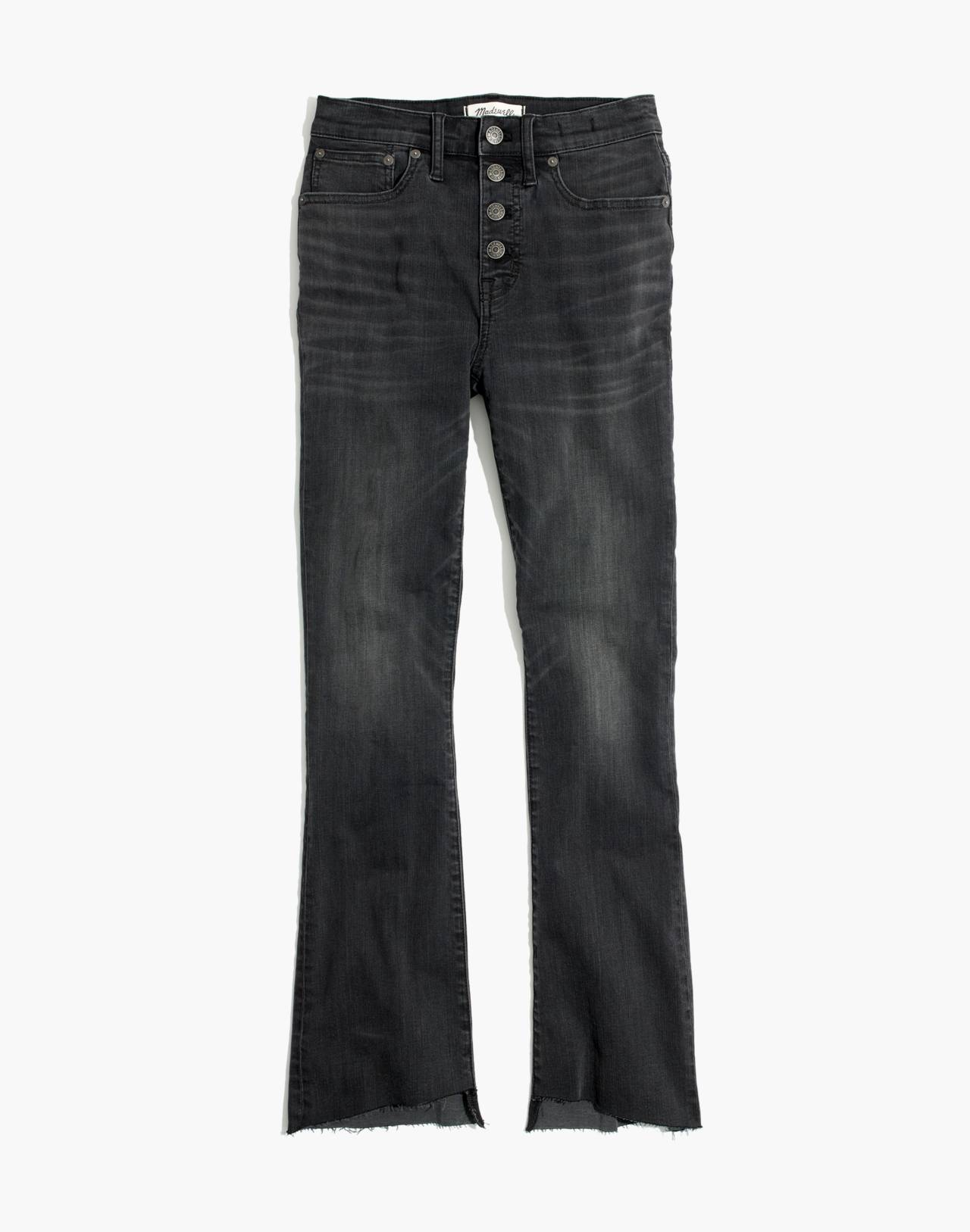 Cali Demi-Boot Jeans: Asymmetrical Hem Edition in woodston wash image 4