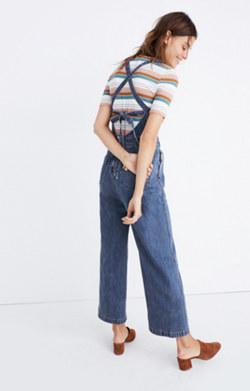 Denim Tie-Back Jumpsuit