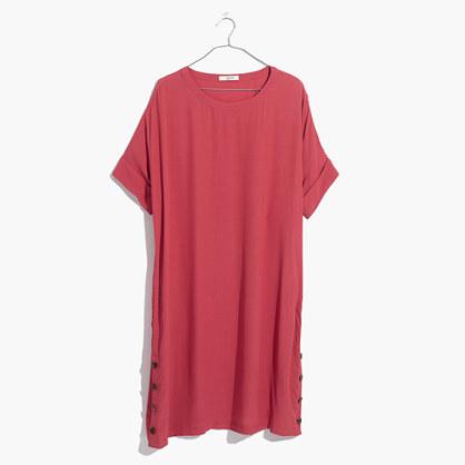 Journal Side-Button Dress