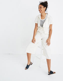 Wide-Leg Utility Jumpsuit