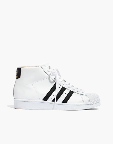 Adidas® Superstar™ Pro Model High-Top Sneakers in black white image 2