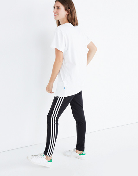 Adidas® Big Trefoil Tee in white turbo image 2