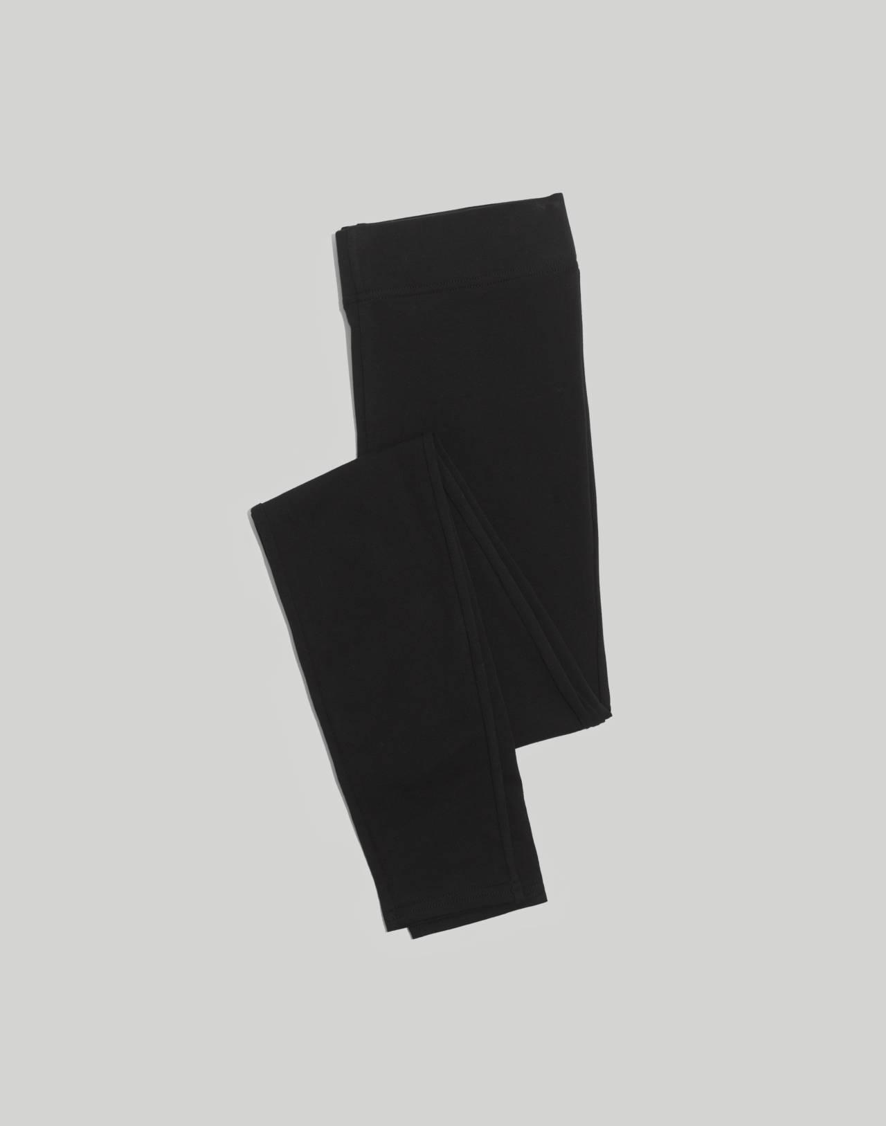 High-Rise Knit Leggings in true black image 4