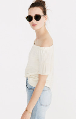 Off-the-Shoulder Texture Top
