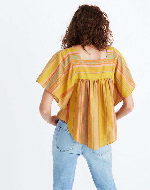 Striped Butterfly Top in multi image 3