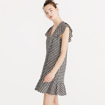 Gingham Ruffle Dress