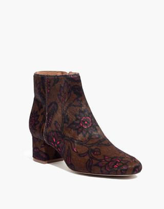The Margot Boot in Floral Calf Hair in jacobean weathered olive image 2