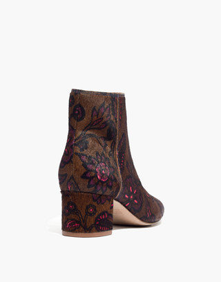 The Margot Boot in Floral Calf Hair in jacobean weathered olive image 3