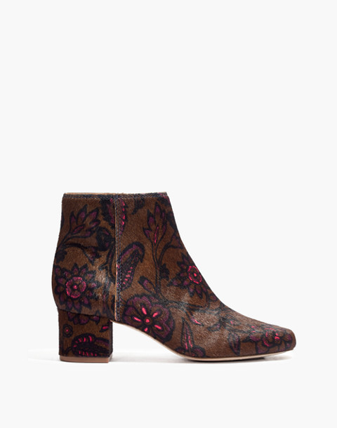 The Margot Boot in Floral Calf Hair in jacobean weathered olive image 1