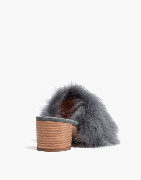 The Shearling Heidi Mule in black sea image 3