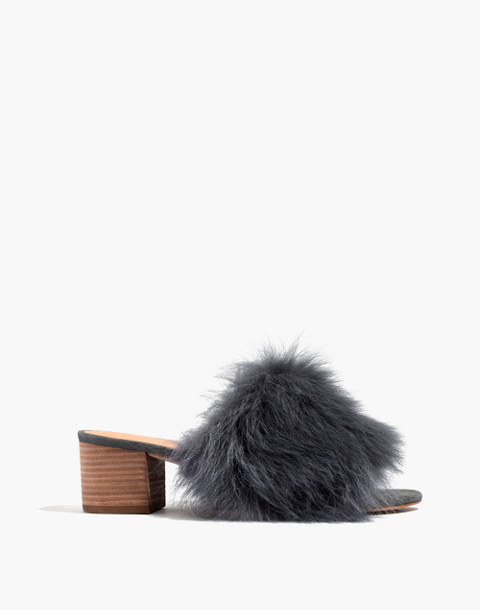 The Shearling Heidi Mule in black sea image 1